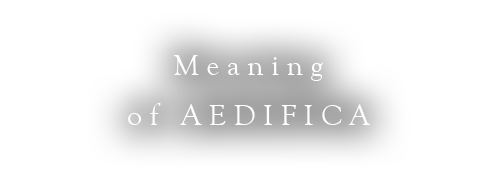 Meaning of AEDIFICA